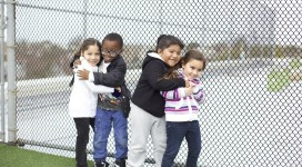 Our kids at Roberta Bright love the rooftop playground.
