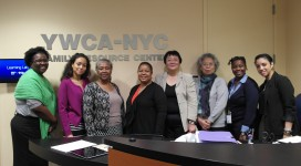 YW staff with the visitors from China's YWCA.