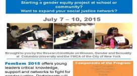YWCA NYC FemSem Summer 2015