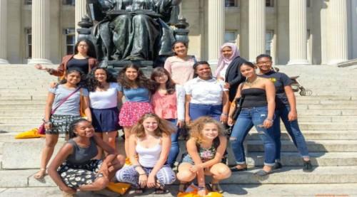Girls in front of Columbia_EditedPicMonkey2