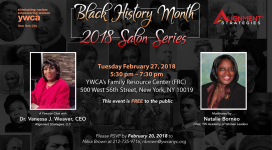 Black History Month 2018 Salon Series Event YWCA of New York City ywcanyc.org