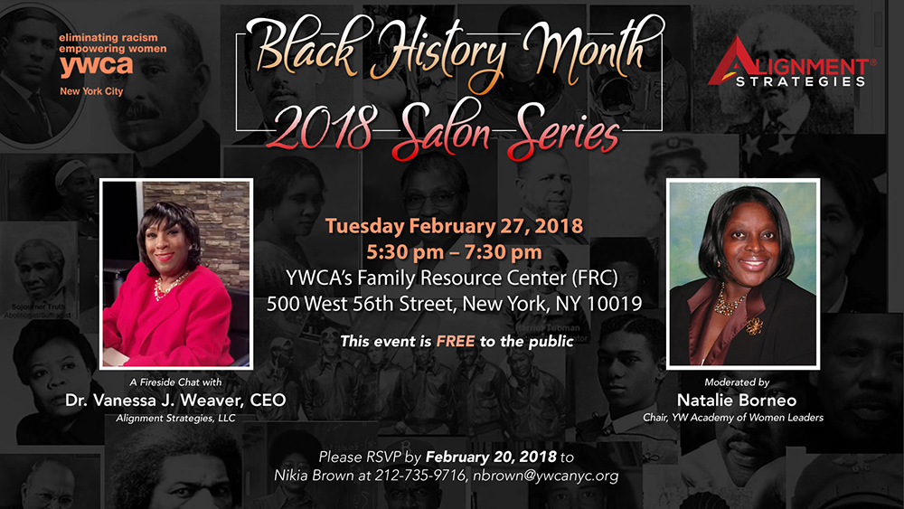 Black History Month 2018 Salon Series Event YWCA of New York City ywcanyc.org