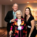 YWCA NYC 'Woman of the Year' Connie Tate, Chair of the YWCA World Service Council, Past Chair of the YWCA NYC, and longtime member of the National Board of the YWCA USA with son Randy Tate and granddaughter Kelsey Tate