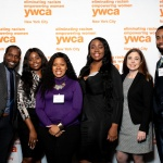 YW Stafffrom left to right: Senior Director of Out-Of-School Time Programs Phillip Colas, Program Director Ewuraesi Dadzie, Program Director Janet Cooper, Program Director Karlene James, Benefits Administrator Nicole Doherty, Program Director Christopher Anderson
