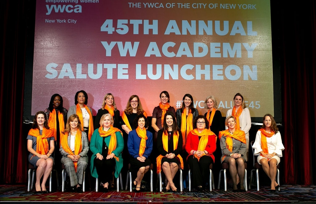YW Welcomes the AWL Class of 2018. From left to right: Camille Joseph-Goldman, Tanya Sanders,Kimberlee Mertz, Merritt Ann Thomas, Carey Kolaja, Suzanne Kendall, Charlene Eigenberg, Julia M. Jordan, Lauren McKenna Surzyn, Lauren Silberfeld, Ginger Mosier, Rachel Levovitz, Suzanna Bouhia, Debra Connor, Beth Ann Bovino, Linda Derrick. Not pictured: Nicole Crighton Vescio