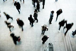 Blurred pedestrians
