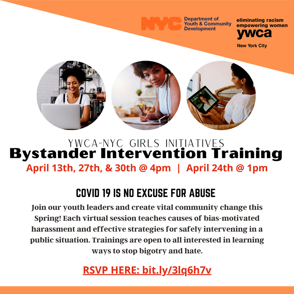 2021 Bystander Intervention Presentations Flyer