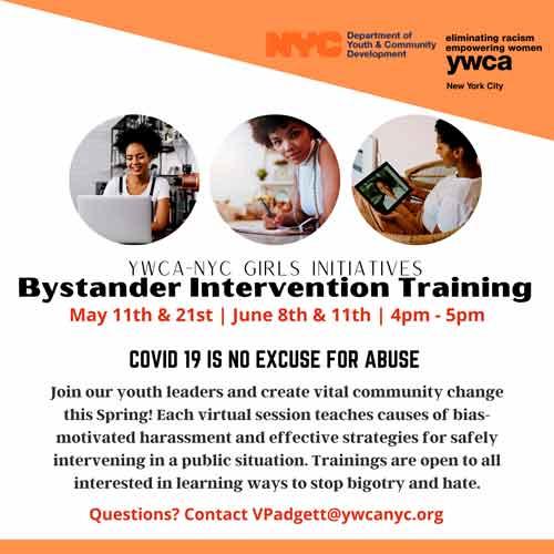 2021 Spring Bystander Intervention Presentations Flyer