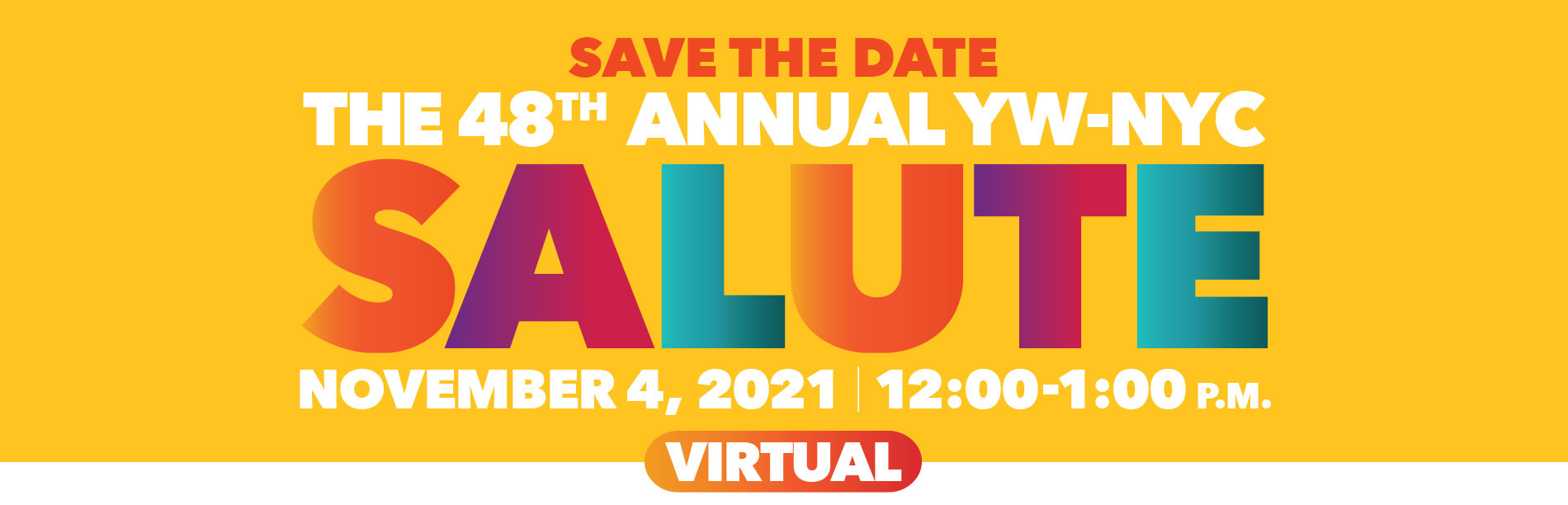 48th Annual YW-NYC Salute Save The Date Banner